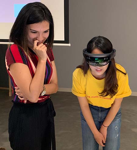Students use the Hololens